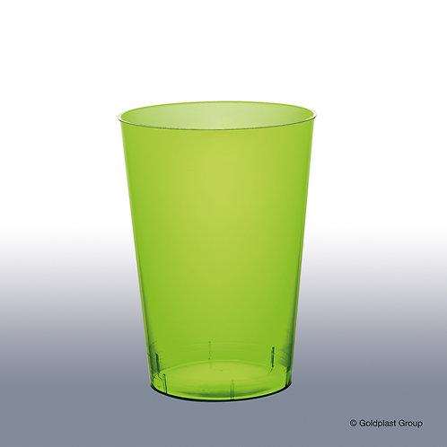 Bicchiere moon verde acido trasparente ps 200cc Pz.10