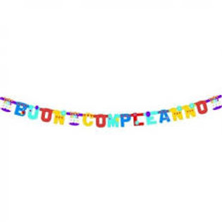 Festone buon compleanno torta jumbo 3.65 mt