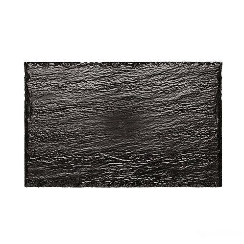 Piatto rock medium nero ps 22x14cm Pz.10