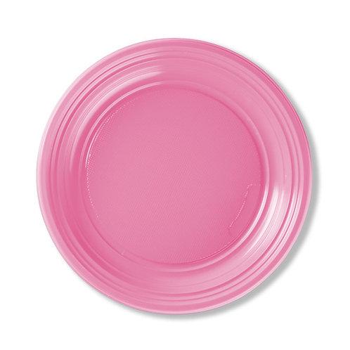 Piattino dessert plastica ROSA Pz.50