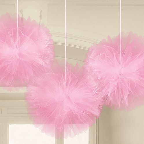 Fluffy tulle rosa 3 pz