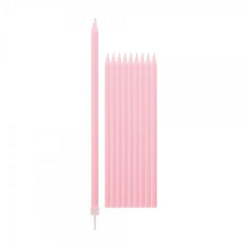 Candela stelo rosa Pz.12 cm.13,5