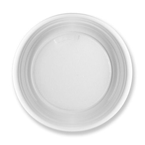 Piatto dessert plastica bianca light Pz.50
