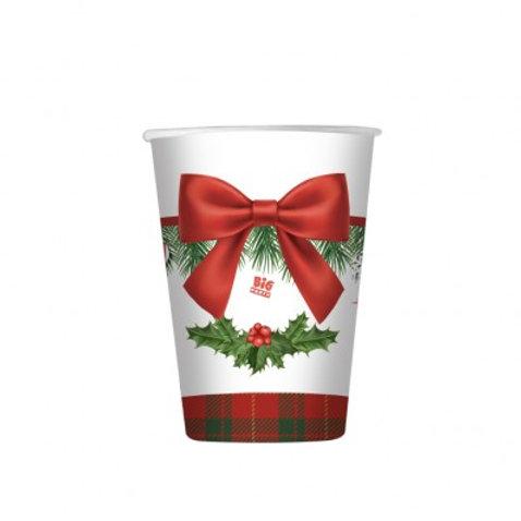 Bicchiere 200 ml CHRISTMAS KILT 8 pz