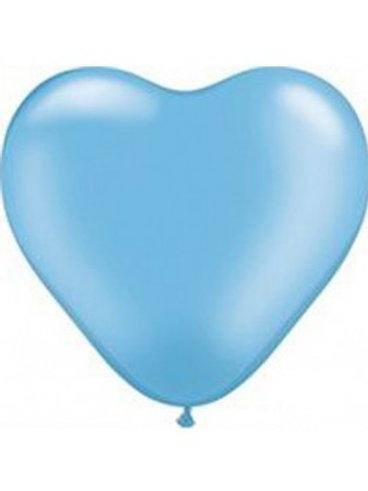 Blister 20 palloncini CUORE CELESTI