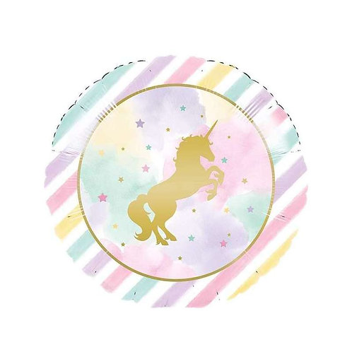 Palloncino mylar UNICORNO message