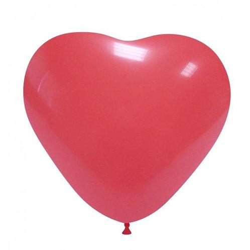 Blister 20 palloncini CUORE ROSSO