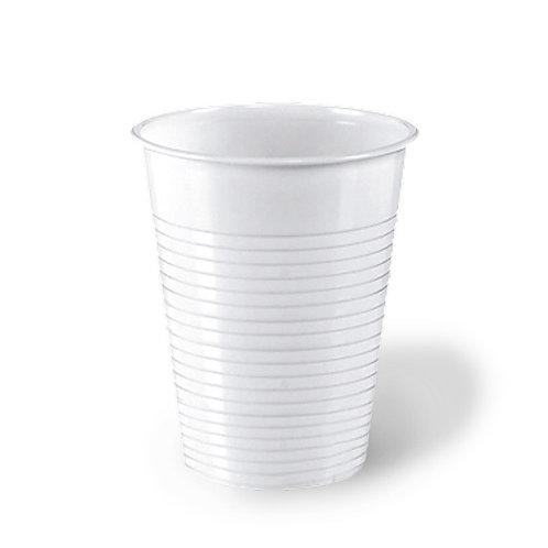 Bicchiere plastica bianco 200cc Pz.100