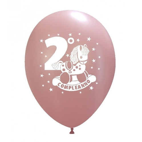 Blister 20 palloncini 2°COMPLEANNO colori assortiti