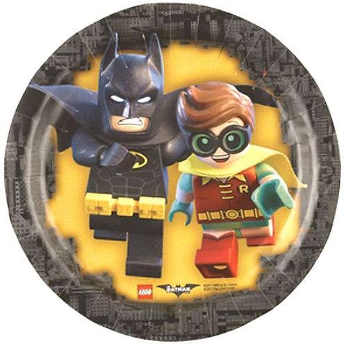 Piattini dessert Cm.20 BATMAN LEGO Pz.8