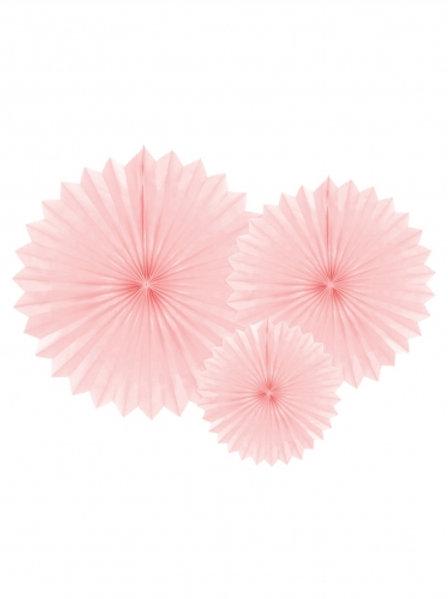Rosone carta rosa cm 20/30/40 3pz