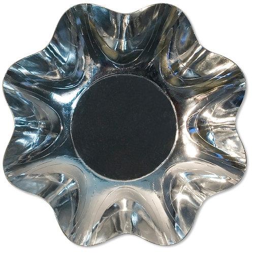 Zuppiera Grande Argento Lucido Cartoncino d.34