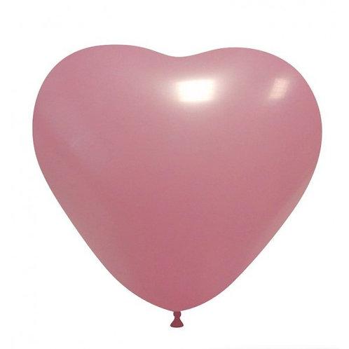 Blister 20 palloncini CUORE ROSA