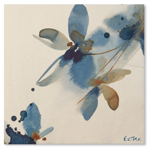 Tovagliolo 33x33- 3 veli - BLUE FLOWERS Pz.20