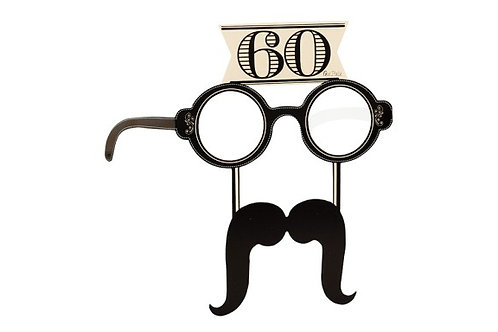 Occhiali in carta 60 anni con baffi 4 pz