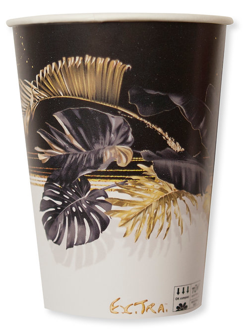 Bicchiere Cartoncino compost 250cc BLACK TROPICAL Pz.8