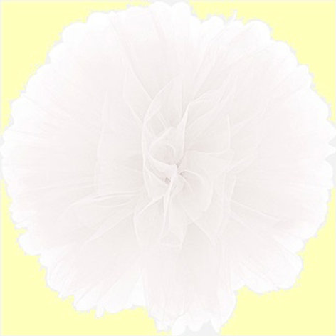 Fluffy tulle bianco