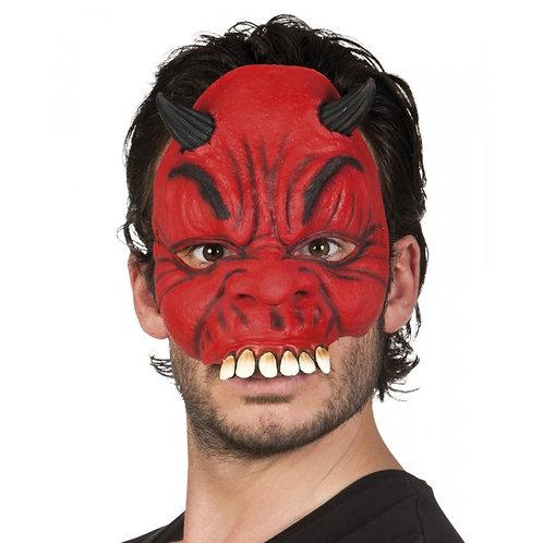 Maschera Diavolo mezzo viso