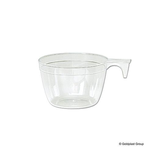 Tazzina caffè plastica trasparente con manico Pz.40