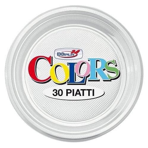 Piatto piano plastica TRASPARENTE Pz.30
