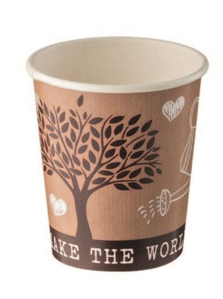 Bicchiere caffè in cartoncino + PLA ml.120 Pz.50