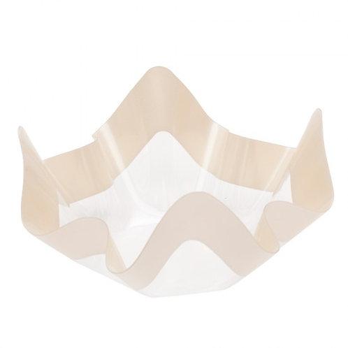 Contenitore in plastica PET trasparente con riga panna Cm 22,5x22,5x12