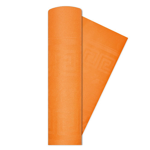 Tovaglia rotolo carta damascato ARANCIONE h.1.20 x 7 Mt.