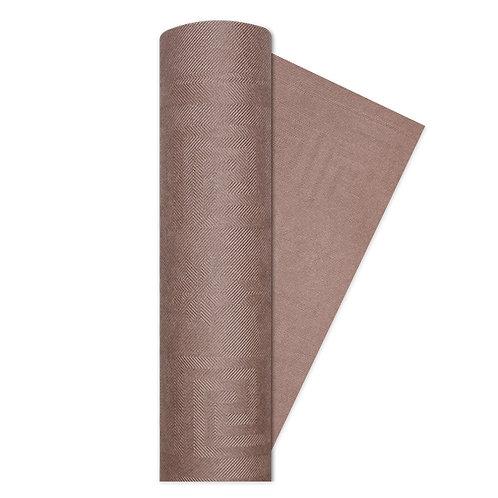 Tovaglia rotolo carta damascato MARRONE h1.20 x 7 Mt.