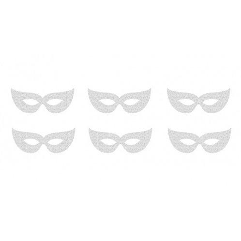 Mascherine Argento glitter 6 pz