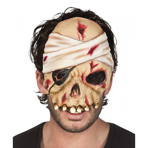 Maschera Pirata horror mezzo viso