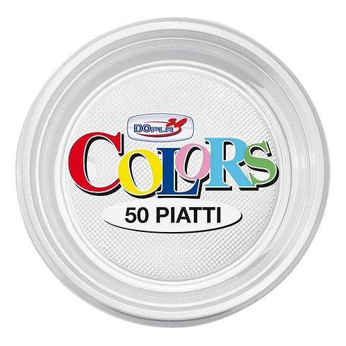 Piattino dessert plastica TRASPARENTE Pz.50
