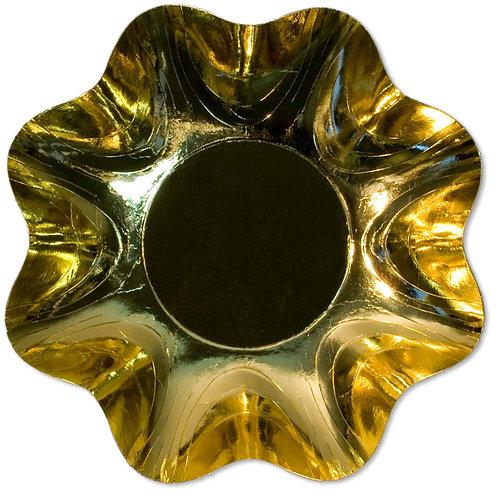 Zuppiera Grande Oro Lucido Cartoncino d.34