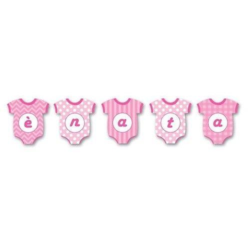 Festone è nata body rosa