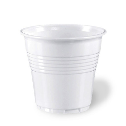 Bicchierino caffè plastica bianco 80cc Pz.100