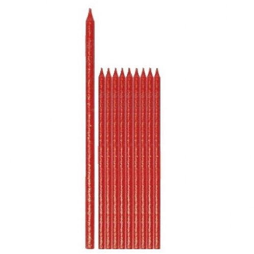 Candela stelo rossa Pz.12 cm.13,5