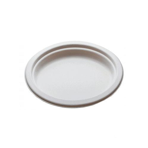 Piatto bio in polpa di cellulosa OVALE cm.20x26 Pz.50