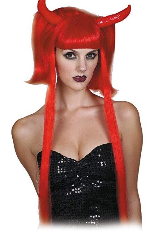 Parrucca diavolessa rossa