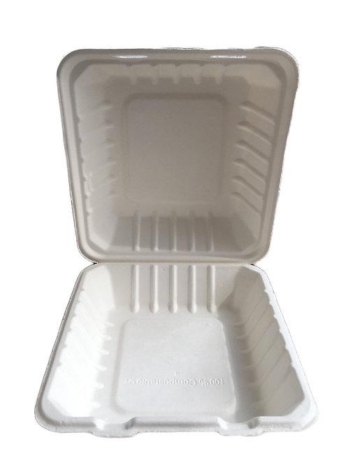 Duni 163076 box, incernierato Bagassa 236 mm x 231 mm x 81 mm, 110 pezzi, bianco