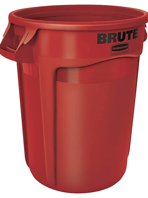 Rubbermaid Commercial Products FG263200 RED Brute Contenitore Rotondo