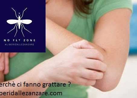 Perchè grattiamo dopo che una zanzara ci ha punto ?