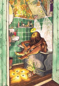 Angel in a bathtub