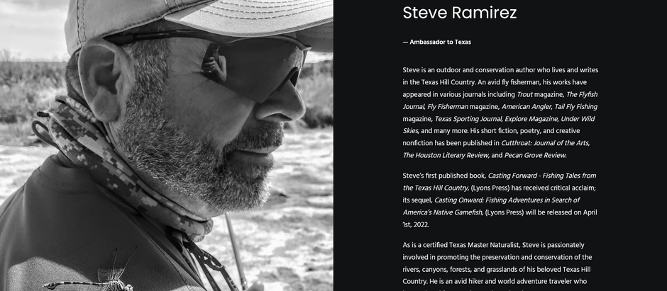 American Museum of Fly Fishing Ambassador for Texas Appointment.