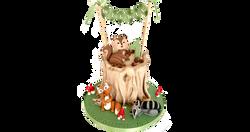 Woodland Creatures Birthday Cake