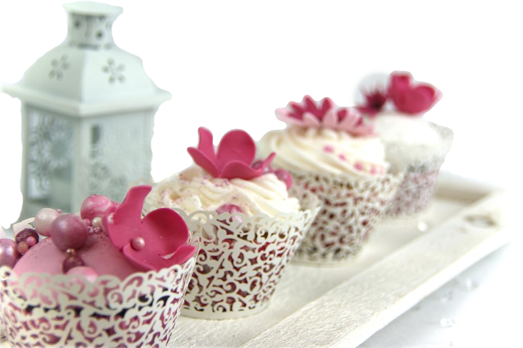 Fancy Pink CupCakes