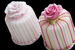 Round Fanciful Mini Wedding Cakes