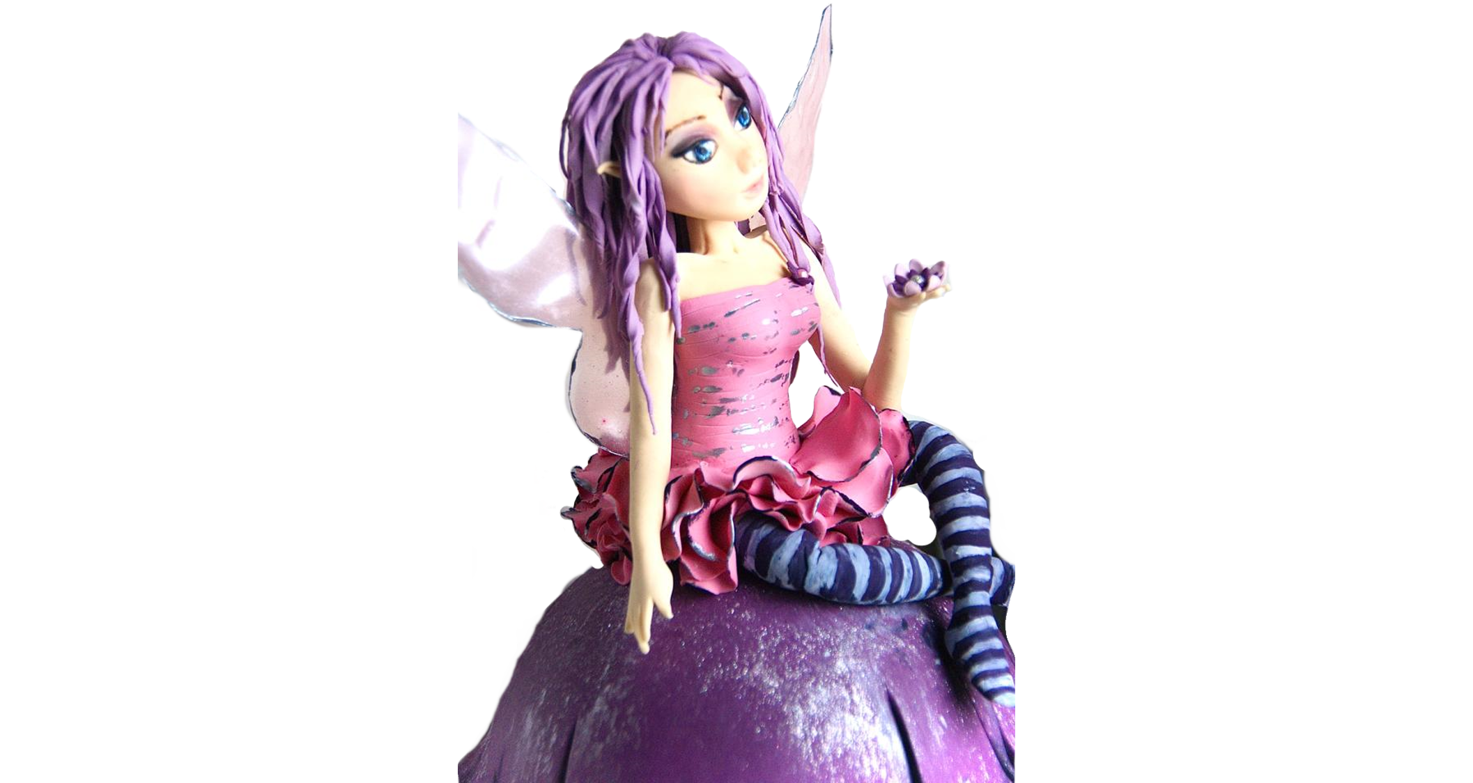 Purple Fairy Cake Topper
