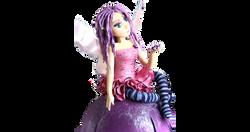 Purple Fairy Cake Topper