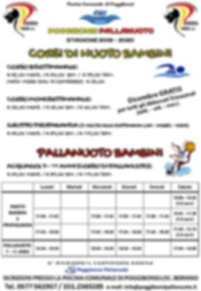A4_Orari e Prezzi Corsi BAMBINI PP 2019-