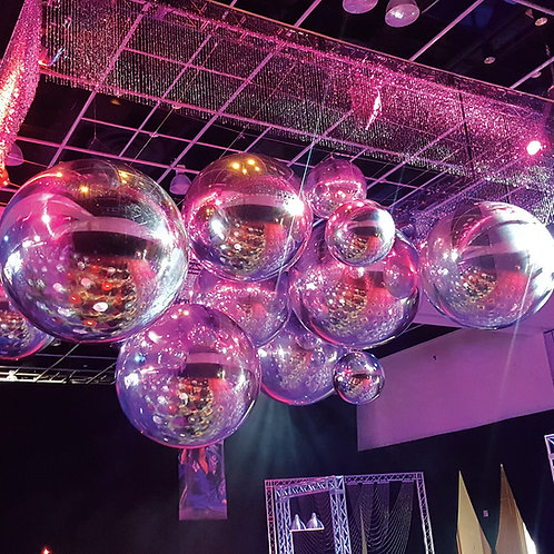 Inflatable Mirror Spheres