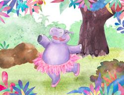 Lulu the Ballerina Hippo